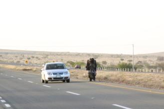 #ElCaminante deambula por la autopista